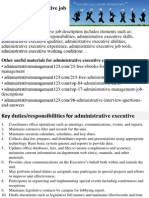 Administrative Executive Job Description