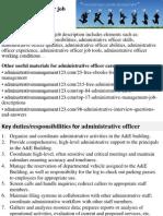 Administrative Officer Job Description