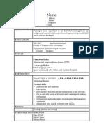 Best CV Form