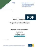 Albury Corporate Overheads Ratios