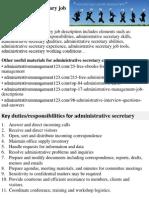 Administrative Secretary Job Description