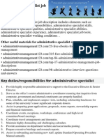 Administrative Specialist Job Description