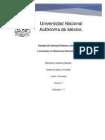 Gutiérrez Bedolla Rita Rocío- América Latina y El Caribe-Unidad 1- Actividad 1.1