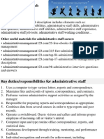 Administrative Staff Job Description