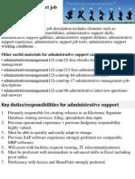 Administrative Support Job Description