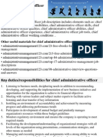 Chief Administrative Officer Job Description