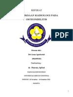 Gambaran Radiologi Osteomielitis dr. Pherena Amalia, Sp. Rad
