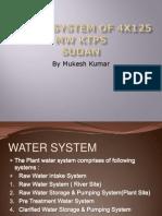 Water System of 4x125 MW KTPS, Sudan