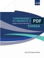 Tonga Private Sector Assessment Update, 2012