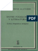 163970437 Margit Frenk Entre Folklore y Literatura