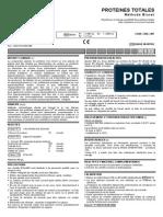 Protéines Totales Méthode BIURET