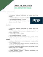 CRITERIOS MINIMOS ESPECIALIDADES