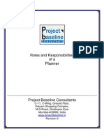 Roles and Responsibilities of a Planner