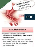 Abnormal Menstruation