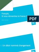 """Etude """"Français, si vous réinventiez la France ?"""""""
