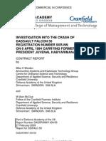 Investigation into the Crash of Dassault Falcon 50 Registration Number 9XR-NN on  6 April 1994 Carrying Former President Juvenal Habyarimana