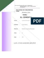 cemento quimica