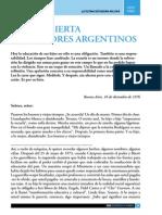 Carta Abierta a Los Padres Argentinos - Gente