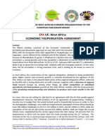 Message From the West African Farmers Organisations to the European Parlemantarians on EPAs