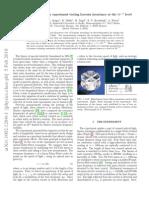 Rotating optical cavity experiment testing Lorentz invariance at the 10e−17 level