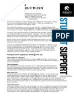 Tip Sheet for Finishing Your Thesis 2011