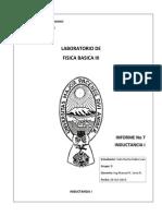Inductancia I Informe Final