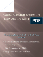 Risky-Riskfee Asset Allocation