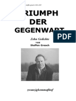 Triumph der Gegenwart - Gedichte von Steffen Gresch