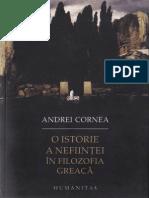 Andrei Cornea-O Istorie a Nefiintei in Filozofia Greaca