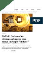 """Guía Con Los Elementos Básicos Para Armar Tu Propio """"Indoor"""" _ El Dínamo"""