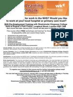 NHS Pre Employment Course Leaflet General Jan 2015
