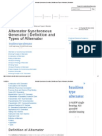 Alternator Synchronous Generator _ Definition and Types of Alternator _ Electrical4u