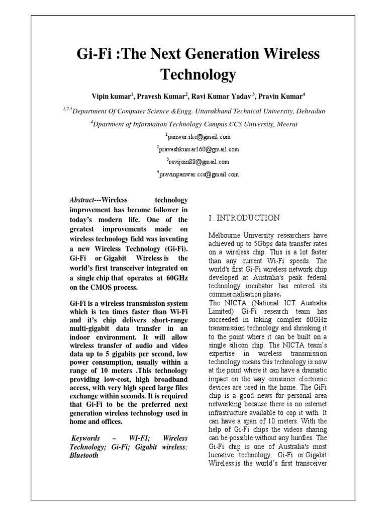 literature review on gifi technology