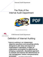 Role of Internal Audit Department