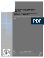 Course Outline Statistics