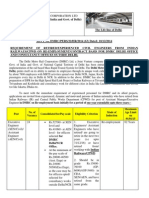 ADVT No. DMRC/PERS/22/HR/2014 (63) Dated