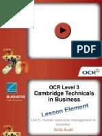Skills Audit Lesson Element Presentation