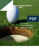 Final Report - Golf Championship 2009