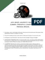 Summer 2014 Strength Manual