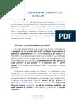 INVESTIGACIONES DE UN DETECTIVE EN TEMAS DE DIVORCIOS.