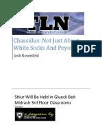 (TLN Shiur) Chassidus - Not Just White Socks & Peyos