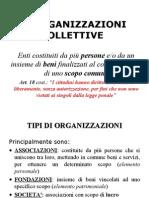 5 Le organizzazioni collettive