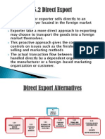 Export Entry Modes Direct Export