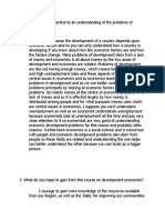 answer to discussions question of chapter 1 of Development economics