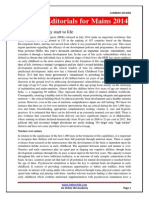 Selected Editorials 2014