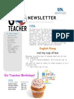 July Newsletter 2014