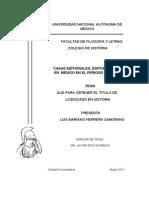 Tesis. Lic. Casas Editoriales, Editores y Libros en México en El Periodo de 1960 1971