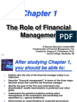 The role of Finacial Management