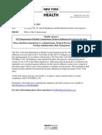 December 11 Flu Declaration Advisory