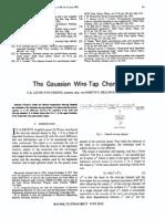 Gaussian Wire Tap Channel - Hellman